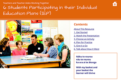 6 Students Participating in their Individual Education Plans (IEP) cover image