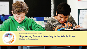 Supporting student learning in the whole class Module 10 Presentation cover image