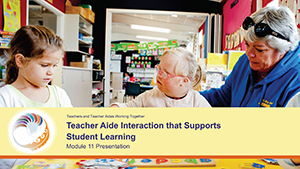 Teacher aide interaction that supports student learning Module 11 Presentation cover image