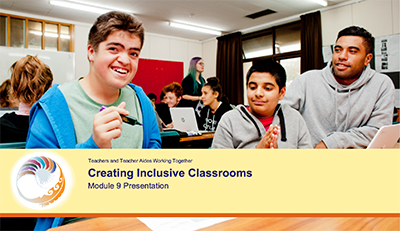 Creating Inclusive classroom Module 9 Presentation cover image