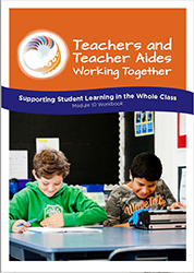 Supporting student learning in the whole class Module 10 Workbook cover image